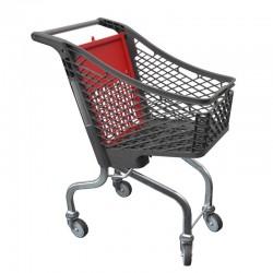 Carrinho de Compras de Plástico sem porta-bebe - 80L