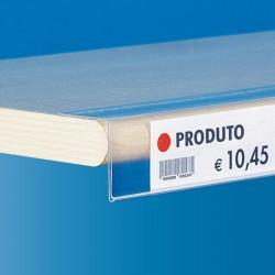 Perfil porta-preço com adesivo para Prateleiras de Lojas