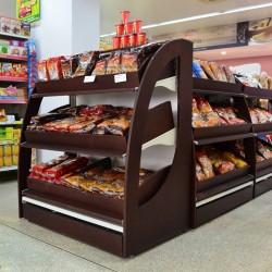 Expositor para Pao para Centro de Supermercado