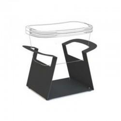 Suporte para empilhar cestas de compras