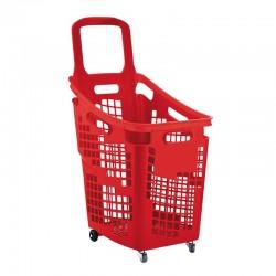 Cesto de compras com 4 rodas