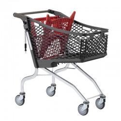 Carrinho de Compras de Plástico com porta-bebe - 130L