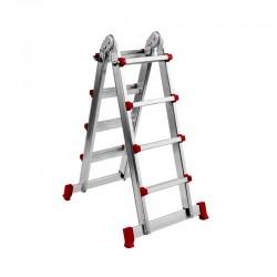 Escada/Escadote com 2 tramos em alumínio