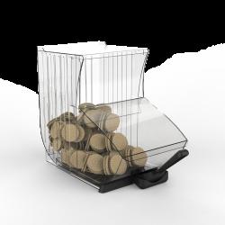 Dispensador para vendas a granel com pá