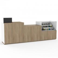 Balcão de madeira para Lojas