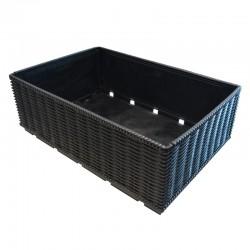Caixa de fruta imitação vime rebatível 600x400