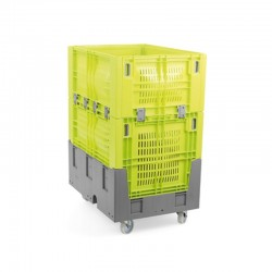 Contentor palete rebatível  de plástico - 392L