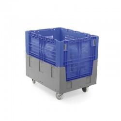Contentor palete rebatível  de plástico - 245L 2T