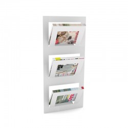 Expositor de revistas e jornais para parede
