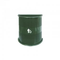 Contentor do lixo em chapa perfurada - Parede - 50L