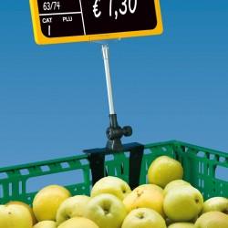 Caixilho para Preço com Suporte para Caixas de Fruta