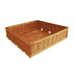 Caixa de fruta imitação vime rebatível 400x400